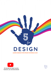 Cover page of Five for Design online teacher created resource for STEAM